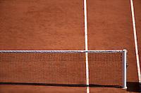France, Paris, 31.05.2014. Tennis, French Open, Roland Garros, Tenniscourt with net.<br /> Photo:Tennisimages/Henk Koster