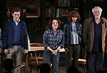 """Hugh Dancy, Stockard Channing, Megalyn Echikunwoke and John Tillinger during the Opening Night Curtain Call Bows for the Roundabout Theatre Company production of """"Apologia"""" on October 16, 2018 at the Laura Pels Theatre in New York City."""