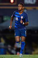 Miami, FL - Tuesday, October 15, 2019:  Mason Toye #18 during a friendly match between the USMNT U-23 and El Salvador at FIU Soccer Stadium.