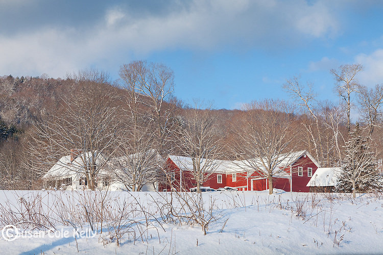 Winter in Quechee village, Hartford, VT, USA