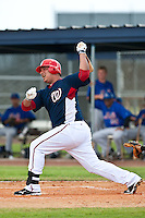 Carlos Maldonado of the Gulf Coast League Nationals during the game against the Gulf Coast League Mets June 27 2010 at the Washington Nationals complex in Viera, Florida.  Photo By Scott Jontes/Four Seam Images