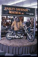 Le Grand-Antonio au salon de la moto vers 1979<br /> <br /> PHOTO : Agence Quebec presse