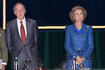 26.09.2012. King Juan Carlos of Spain and Queen Sofia of Spain attend the opening of the university year 2012/2013 in the company of Ignacio González (new president of the Community of Madrid) and José Ignacio Wert (Minister of Education, Culture and Sport), at the National University of Distance Education (UNED) in Madrid, Spain. In the image King Juan Carlos of Spain and Queen Sofia of Spain  (Alterphotos/Marta Gonzalez)
