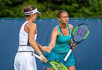 Rosmalen, Netherlands, 11 June, 2019, Tennis, Libema Open, Womans doubles: Lesley Kerkhove (NED) and Bibiane Schoofs (NED) (L)<br /> Photo: Henk Koster/tennisimages.com