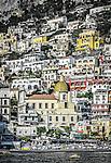 The beautiful seaside town of Positano on the Amalfi Coast in Italy.