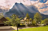 Grindelwald house looking towards the Eiger - Grindelwald Switzerland