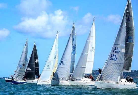 Bring it on…..for the past 14 month, the nearest we've got to being In Real Life is through the national ID letters on our sails, as seen in the First 31.7s racing in Dublin Bay