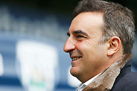 Swansea City manager Carlos Carvalhal smiles as he arrives at Hawthorns Stadium prior to kick off of the Premier League match between Swansea City and West Bromwich Albion at the Hawthorns Stadium, Birmingham, England, UK. Saturday 07 April 2018