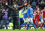 St Johnstone v Aberdeen...13.04.14    William Hill Scottish Cup Semi-Final, Ibrox<br /> Tommy Wright celebrates with Brian Easton<br /> Picture by Graeme Hart.<br /> Copyright Perthshire Picture Agency<br /> Tel: 01738 623350  Mobile: 07990 594431