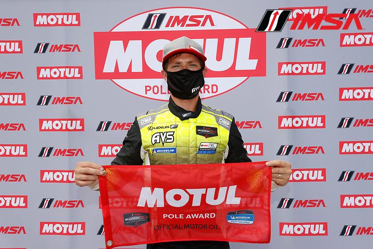 GTD Motul Pole Award winner #14 AIM Vasser Sullivan Lexus RC-F GT3, GTD: Aaron Telitz