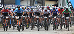 MTB Race VTT - Internazionali d'Italia Series - . Nals - Nalles, Italy on April 10, 2021. In action men at the start