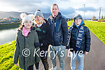 Lily, Christine, Michael and Aidan Brosnan enjoying a stroll in Blennerville on New Years Eve.