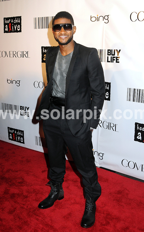 **ALL ROUND PICTURES FROM SOLARPIX.COM**                                             **SYNDICATION RIGHTS FOR UK, AUSTRALIA, DENMARK, PORTUGAL, S. AFRICA, SPAIN & DUBAI (U.A.E) & ASIA (EXCLUDING JAPAN) ONLY**                                                                                  Caption:  2010 Keep A Child Alive Black Ball - Arrivals, Hammerstein Ballroom, NY, USA, 30 September 2010                                                                             .This pic: Usher                                                                                     JOB REF: 12227  PHZ mayer   DATE: 30_09_2010                                                            **MUST CREDIT SOLARPIX.COM OR DOUBLE FEE WILL BE CHARGED**                                                                      **MUST AGREE FEE BEFORE ONLINE USAGE**                               **CALL US ON: +34 952 811 768 or LOW RATE FROM UK 0844 617 7637**