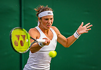 London, England, 4 th. July, 2018, Tennis,  Wimbledon, Woman's doubles: Y Bibiane Schoofs (NED) <br /> Photo: Henk Koster/tennisimages.com