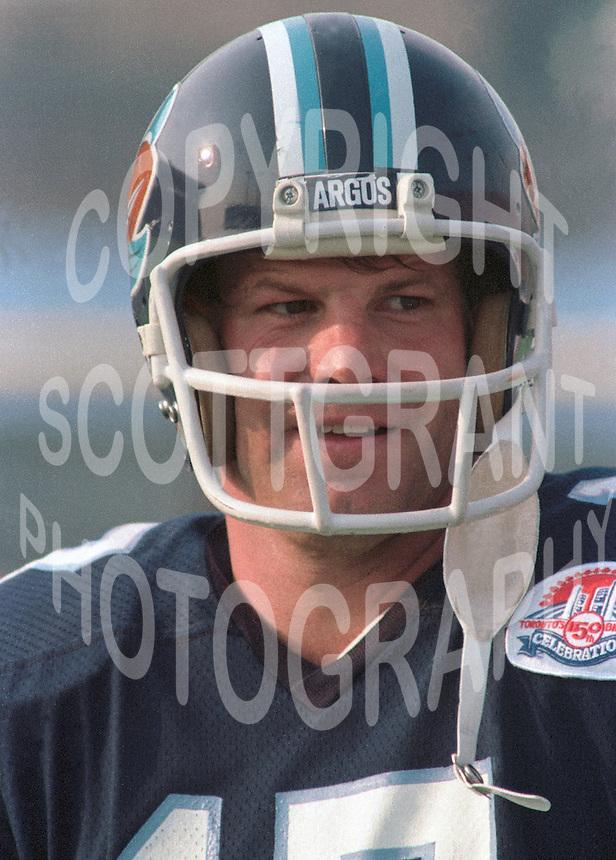 Joe Barnes Toronto Argonauts quarterback. Copyright photograph Scott Grant