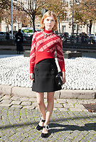 October 3 2017, PARIS FRANCE the Miu Miu<br /> Show at the Paris Fashion Week Spring Summer 2017/2018. Actress Clemence Poesy arrives at the show.