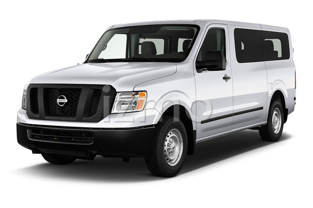 2020 Nissan NV-Passenger S 4 Door Passenger Van Angular Front automotive stock photos of front three quarter view