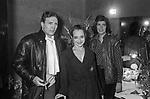 VISITA NEI CAMERINI SUSAN SONTAG CON OSVALDO RUGGERI<br /> ADRIANA ASTI - PRIMA AL TEATRO ELISEO ROMA 12/1980