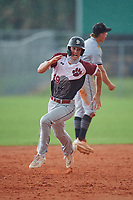 Luke Jenkins (19) during the WWBA World Championship at Lee County Player Development Complex on October 11, 2020 in Fort Myers, Florida.  Luke Jenkins, a resident of Greensboro, North Carolina who attends Grimsley High School, is committed to UNC-Greensboro.  (Mike Janes/Four Seam Images)