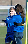 St Johnstone Training…17.01.20<br />Ali McCann pictured with Stevie May during training this morning at McDiarmid Park ahead of tomorrow's Scottish Cup tie against Greenock Morton..<br />Picture by Graeme Hart.<br />Copyright Perthshire Picture Agency<br />Tel: 01738 623350  Mobile: 07990 594431