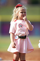 "The Winston-Salem Dash held a ""Little Miss Dash"" contest prior to the Carolina League game against the Carolina Mudcats at BB&T Ballpark on June 1, 2019 in Winston-Salem, North Carolina. The Mudcats defeated the Dash 6-3 in game one of a double header. (Brian Westerholt/Four Seam Images)"