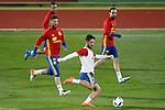 Spain's Koke Resurrecccion, Sergio Ramos, Isco Alarcon and Juanfran Torres during training session. March 21,2016. (ALTERPHOTOS/Acero)