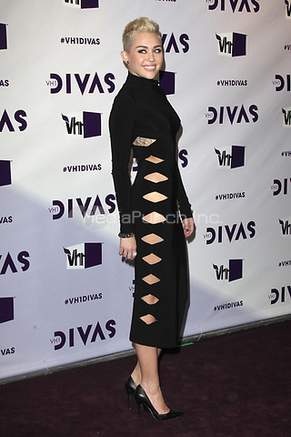 LOS ANGELES, CA - DECEMBER 16: Miley Cyrus at VH1 Divas 2012 at The Shrine Auditorium on December 16, 2012 in Los Angeles, California. Credit: mpi21/MediaPunch Inc.