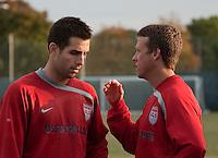 Carlos Bocanegra and John Hackworth. U.S. Men's National Team training at RFK Stadium  Monday October 12, 2009  in Washington, D.C.