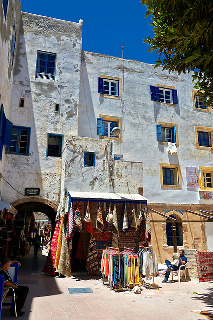 Traditional Berber shops in the medina of  Essaouira, Morocco