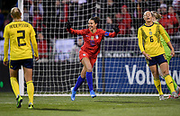 COLUMBUS, OH - NOVEMBER 07: Carli Loyd #10 of the United States scores a goal and celebrates during a game between Sweden and USWNT at MAPFRE Stadium on November 07, 2019 in Columbus, Ohio.