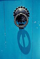 Tunisia, Sidi Bou Said.  Door Knocker.