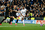 Kyle Walker of Manchester City pushing Real Madrid CF's Vinicius Jr during UEFA Champions League match, round of 16 first leg between Real Madrid and Manchester City at Santiago Bernabeu Stadium in Madrid, Spain. February Wednesday 26, 2020.(ALTERPHOTOS/Manu R.B.)