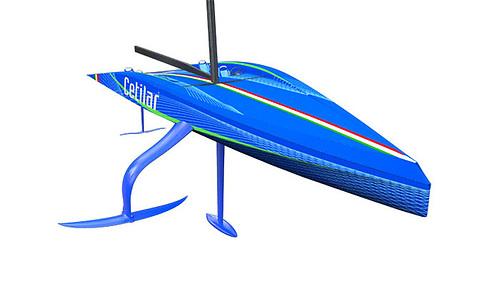 The Cetilar branding for Roberto Lacorte's new 60' Foiler Flying Nikka has been revealed