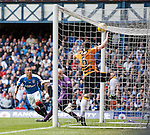 James Tavernier heads in to score for Rangers on the stroke of half-time