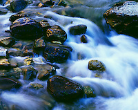 Rocks and cascading stream. Shell Creek Bighorn National Forest Wyoming
