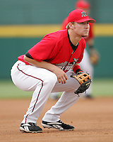 Frisco Rough Riders 3B Travis Metcalf during the 2007 AA Texas League Season. Photo by Andrew Woolley / Four Seam Images.