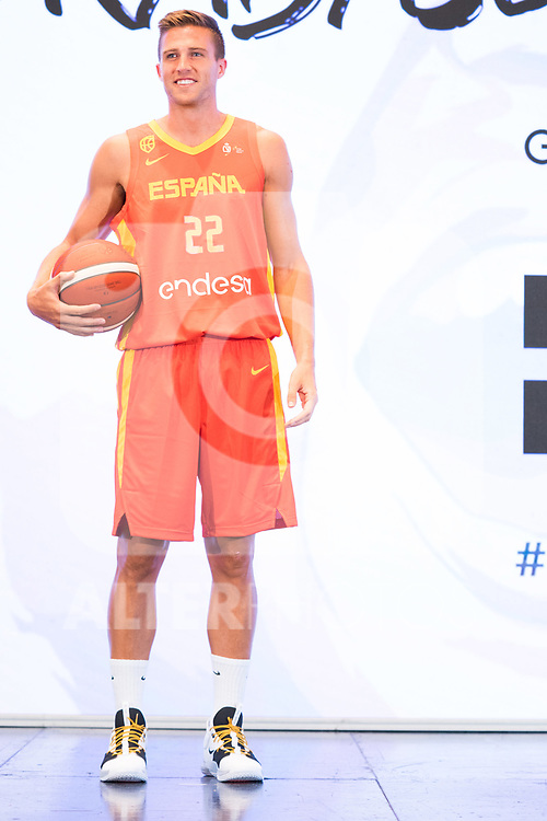 Player Xavi Rabaseda during the official presentation of Spanish National Team of Basketball.  July 24, 2019. (ALTERPHOTOS/Francis Gonzalez)