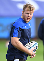 21st November 2020; Recreation Ground, Bath, Somerset, England; English Premiership Rugby, Bath versus Newcastle Falcons; Josh McNally of Bath warms up