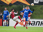 26.02.2020 SC Braga v Rangers: Florian Kamberi and Ricardo Edgaio