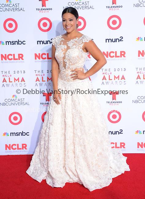 Gina Rodriguez <br /> <br />  attends The 2013 NCLR ALMA Awards held at the Pasadena Civic Auditorium in Pasadena, California on September 27,2012                                                                               © 2013 DVS / Hollywood Press Agency