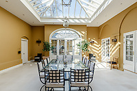 BNPS.co.uk (01202) 558833. <br /> Pic: Strutt&Parker/BNPS<br /> <br /> Pictured: Orangery. <br /> <br /> A grand Georgian manor where writer Evelyn Waugh lived and died is on the market for £5.5m.<br /> <br /> The author of Vile Bodies, Brideshead Revisited and Sword of Honour bought Combe Florey House in Somerset in 1956 and his family lived there until 2008 when they sold it to the current owners.<br /> <br /> In Waugh's day the house was often filled with his glamorous and clever guests like poet John Betjeman, actors Peter Cook and Alec Guinness and writers Salman Rushdie and Muriel Spark.<br /> <br /> The 12-bedroom house has had a makeover since Waugh's day and quirky style and is now a light-filled spacious family home with a party barn, swimming pool and 34 acres.