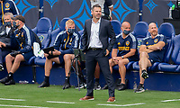 CARSON, CA - APRIL 25: Greg Vanney head coach of the Los Angeles Galaxy during a game between New York Red Bulls and Los Angeles Galaxy at Dignity Health Sports Park on April 25, 2021 in Carson, California.