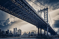 Manhattan Bridge between Brooklyn and Manhattan in New York City