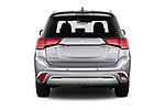 Straight rear view of 2020 Mitsubishi Outlander-PHEV Intense 5 Door SUV Rear View  stock images