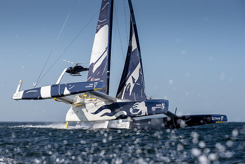 Maxi Edmond de Rothschild holds the outright multihull record for the Rolex Fastnet Race having completed the course in 2019 in 1 day 4hrs 2mins 26 secs