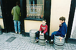 David and Colm Murphy, Ennis, take a break from the traditional music in Ciarán's Bar - June 4, 1999.