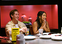 LAS VEGAS, NV - July 15, 2021: James Rowe and Katie Morton pictured at Benihana Restaurant at Westgate Las Vegas Resort & Casino in Las Vegas, NV on July 15, 2021. <br /> CAP/MPI/GDP<br /> ©GDP/MPI/Capital Pictures