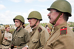 """Re-enactors portray a Soviet soldier from the Russian 13th Guards Rifle Division """"Poltavaskaya"""" during the """"Spam 1940s Wartime Weekend"""" at the Ponderosa in Heckmondwike<br /> 9th July 2011.<br /> Images © Paul David Drabble"""