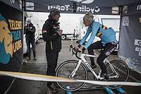 Ellen Van Loy (BEL/Telenet-Fidea) warming up for the Women's Race<br /> <br /> UCI 2017 Cyclocross World Championships<br /> <br /> january 2017, Bieles/Luxemburg