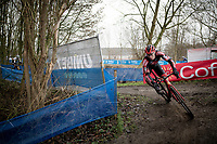 Laurens Sweeck (BEL/Pauwels Sauzen-Bingoal)<br /> <br /> 2021 Flandriencross Hamme (BEL)<br /> Men's Race<br /> <br /> ©kramon